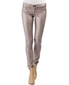 rag & bone legging in Rose Metallic