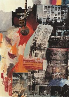 Robert Rauschenberg (October 1925 – May was an American painter and graphic artist whose early works anticipated the pop art movement. Robert Rauschenberg, Abstract Expressionism, Abstract Art, Action Painting, Art Du Collage, Dada Collage, City Collage, Art Collages, Collage Artists
