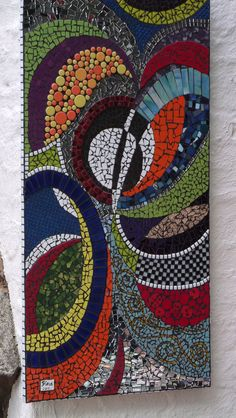 """Mosaic - Abstract Panel. Student work tutored by Craft at Fourways """"One of a Kind"""""""