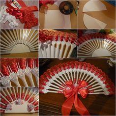 DIY Upcycled Plastic Fork Fan | www.FabArtDIY.com
