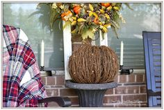 2 Simple changes for a new look on the front porch for autumn -  Yesterday I shared a look at our front entry dressed for autumn   with magnolia garland, pumpkins a...