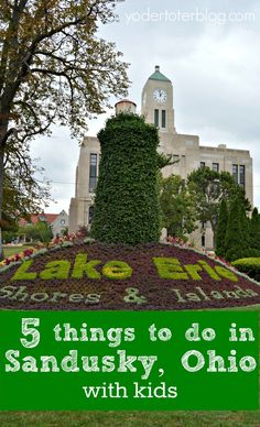 5 things to do in Sandusky, Ohio with kids. Don't just visit Cedar Point and then leave town- Sandusky has so much to offer for families!