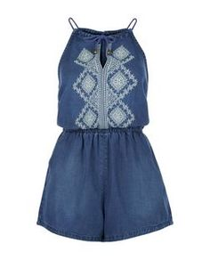 Discover the latest trends with New Look's range of women's, men's and teen fashion. Denim Romper, Playsuit Romper, Festival Outfits, Festival Fashion, Summer Romper, Playsuits, Jumpsuits, Teen Fashion, New Look