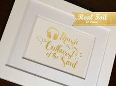 Real Gold Foil Print With Frame Optional by SimplyBeautifulByLC