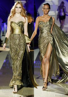 Zuhair Murad golden dresses