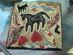 Hooked  Rug Horse Dogs Hearts etc Beauty Colors ~♥~  I love this!