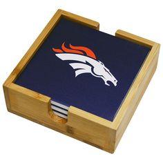 Denver Broncos Ceramic Coaster Set, Ovrfl Oth