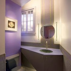 contemporary powder room by Comfort Architecture