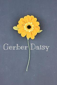 Felt Gerber Daisy. Build Your Own Bouquet