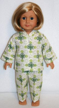 girl scout pajamas - american girl doll