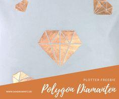 Plotter Freebie Polygon Diamanten