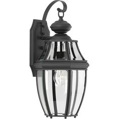 Progress Lighting New Haven H Black Candelabra Base Outdoor Wall Light at Lowe's. A black finish complements clear beveled glass in the New Haven outdoor wall lantern.