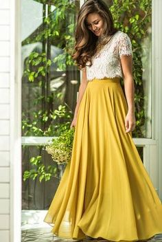 Women's+Vintage+Yellow+Flowy+Maxi+Skirt Now+in+Stock Yellow Maxi Skirts, Maxi Skirt Outfits, Dress Skirt, Women's Skirts, Tulle Skirts, Shirt Dress, Tops For Skirts, Yellow Dress Outfits, Maxi Skirt Formal