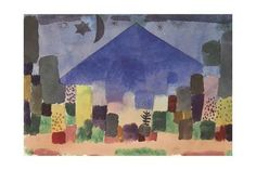The Mountain Niesen, Egyptian Night Giclee Print by Paul Klee at Art.com