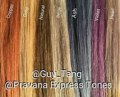 These are the GuyTang+ express tones swatches used on level 10 hair to t… - All For Hair Color Trending Hair Color Swatches, Pravana Hair Color, Guy Tang Hair, Manic Panic Hair, Porous Hair, Color Fantasia, Ash Brown Hair, Vintage Hair Accessories, Hair Color And Cut