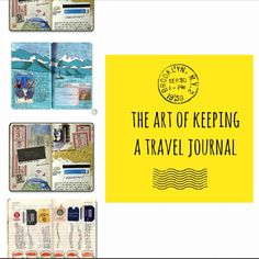 Ideas and suggestions on how to keep a travel journal when traveling.   Yep, I need to start keeping one of these when I travel. Add it to the to-do list! IN LOVE.