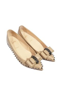#ChristianLouboutin #ballerinas #flats #spike #fashion #shoes #clothes #designer #vintage #secondhand #onlineshoping #mymint