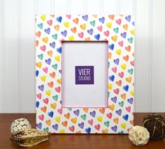 Handmade Valentine Picture Frame | Wood and Decorative Paper