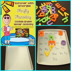 Cookie Sheets and Letters!  :Smedley's Smorgasboard of Kindergarten: A Kindergarten Smorgasboard Thrifty Thursday: