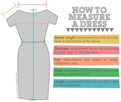 how to measure a dress properly, how to measure clothes, how to measure clothes for etsy, how to measure clothes for ebay, how to measure clothes to sell, clothing measurements diagram, basic clothing measurements