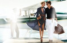 Michael Kors Spring 2014 Ad campaign photographed by Mario Testino in Cabrillo Beach, California.