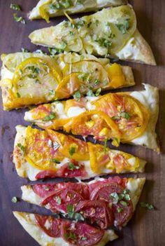 recipe: heirloom tomato pizza