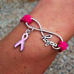 Infinite Hope Breast Cancer Awareness Bracelet | The Grief Toolbox