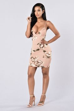 Flower Fever Dress - Blush