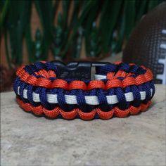 Denver Broncos Colors Paracord Bracelet 3-Color