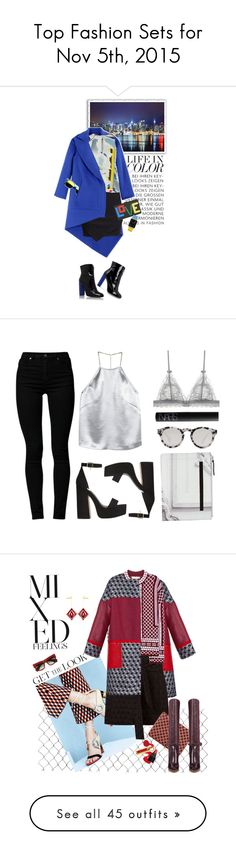 """""""Top Fashion Sets for Nov 5th, 2015"""" by polyvore ❤ liked on Polyvore featuring Antonio Berardi, H&M, Dion Lee, Carvela, Carvela Kurt Geiger, Les Petits Joueurs, Revo, Casetify, Cheap Monday and Illesteva"""