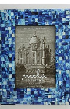 Mela Artisans Congo in Indigo Photo Frame Tiled frame from Popsugar Must Have Resort Box, 4x6 Mela Artisans Other