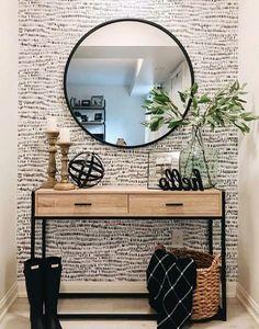 Home Living Room, Apartment Living, Living Room Decor, Bedroom Decor, Home Entrance Decor, Home Decor, Entry Way Decor Ideas, Home Interior Design, Home Remodeling
