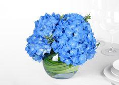 Blue Hydrangea - Wedding Centerpiece