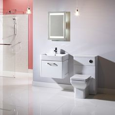 The Q60 range from Tavistock is distinguished by its profiled side panelling and stunning white or graphite finish. The versatile design allows the range to fit perfectly with big and small bathrooms alike. #modernvanityunits