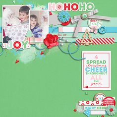 Fuss Free: Hello Hello from Fiddle-Dee-Dee Designs Christmas Cheer from Tickled Pink Studio