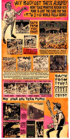 Back From The Grave - Crypt Records.  My favorite series of 60's garage rock!