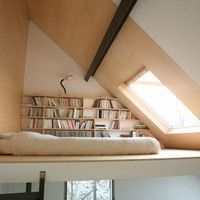 reading loft in an attic area
