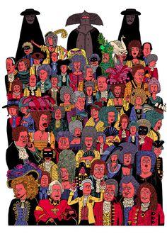 A M A D E U S 1980s Films, Drama Film, Fantastic Art, Period Dramas, Classical Music, Art Images, Illustrators, Cool Pictures, Illustration Art