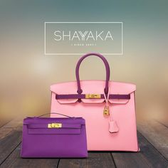 Hermès Birkin in Bi-Color Rose Confetti and Anemone Epsom Leather and Gold Hardware | Special Order | Size 35 cm | Available Now  Hermès Kelly Clutch Pochette in Anemone Purple Epsom Leather and Gold Hardware | Size 22 cm | Available Now  For purchase inquiries, please contact sales@shayyaka.com or +961 71 594 777 (SMS, WhatsApp, or iMessage) or Direct Message on Instagram (@Shayyaka). Guaranteed 100% Authentic / Worldwide Shipping / Bank Transfer or Credit Card