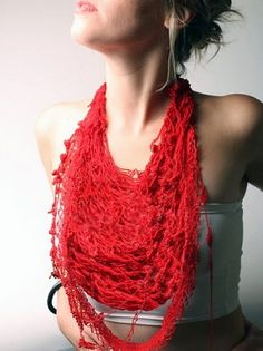 Manolya Konuk - red thread necklace