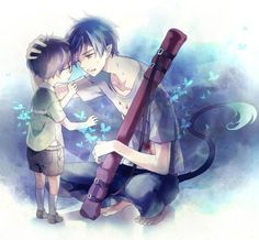 Image result for blue exorcist rin with glasses