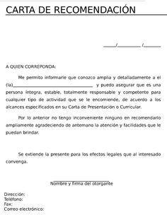 Imagen De Magdali Mendez Cifuentes En Carta En 2020 Cartas De Recomendacion Carta De Referencia Cartas