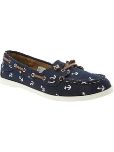 Old Navy | Women's Printed Boat Shoes I NEED THESE!!! ⚓️
