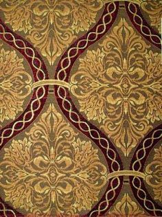 this is going to be the back of my dining benches! Chenille Fabric, Drapery Fabric, Linen Fabric, Victorian Wallpaper, Damask Wallpaper, Textile Pattern Design, Fabric Design, Textile Prints, Floral Prints