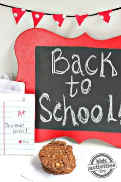 Tell your kids how much you love them with this Back To School snack bag. They're one smart cookie, after all! Click now!