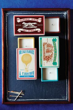 Matchbox Candle. Love how unique these matchbox candles are. I want all 3!