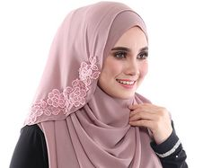 Exclusive Semi Instant Hijab/Slip On CALA ROSSA 2 LOOP  By Abaya Fashion, Muslim Fashion, Hijab Moda, Muslimah Clothing, Instant Hijab, Hijab Style Tutorial, Hijab Wedding Dresses, Muslim Hijab, Beautiful Hijab
