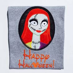 A personal favorite from my Etsy shop https://www.etsy.com/listing/463207936/nightmare-sally-personalized-embroidered