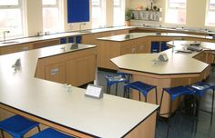 The TS Booker school science laboratory furniture has been developed over many years of consultation with educational establishments, science technicians, Classroom Design, Classroom Organization, Autocad 2010, Teaching Humor, National Laboratory, School Furniture, Labs, Biology, Layouts