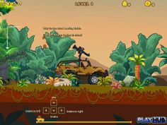 Play the Dinosaur Truck and kill all the dinosaurs to save the world!